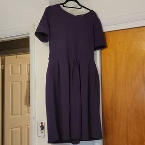 Purple LulaRoe Amelia Dress- 2x